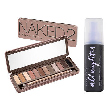 Naked2 Palette and Setting Spray Set in color
