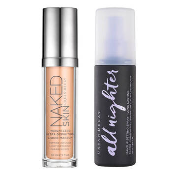 Naked Skin Foundation & Setting Spray Set in color