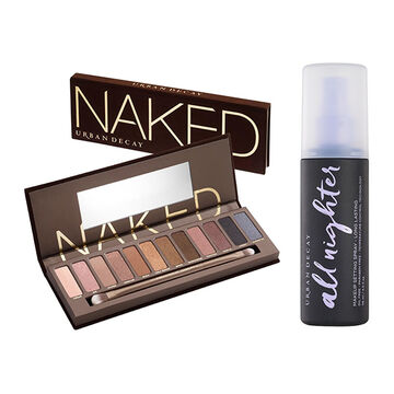 Naked Palette and Setting Spray Set in color