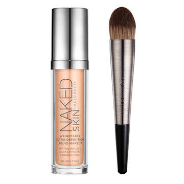Naked Skin Foundation & Brush Set in color