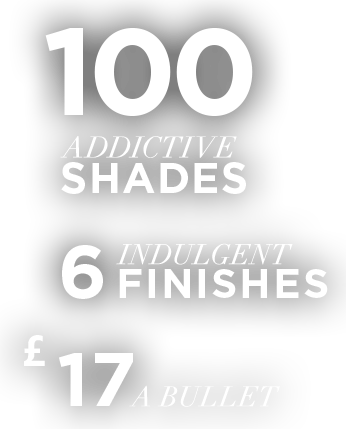 100 Addictive Shades, 6 Indulgent Finishes, $17 a bullet